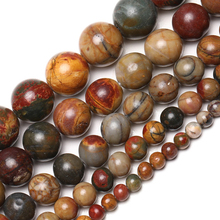 Wholesale Natural Stone Beads Picasso Jaspers Round Loose Beads For Jewelry Making 15.5 Pick Size 4/6/8/10/12mm