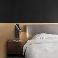 Zerouno Nordic Wall Lamp Indoor With Switch Bedside Wall Lights 5V USB Charger bed head headboard book reading Lamp Led Lighting