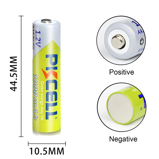 8Pcs PKCELL AAA Battery 1.2V Ni-MH AAA Rechargeable Batteries 1000MAH 3A aaa flashlight battery with 2PC AAA/AA Battery Holder 6