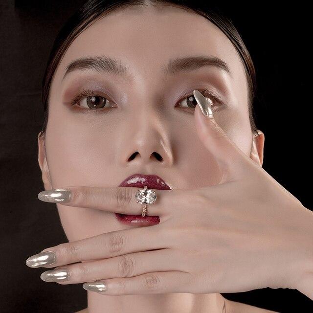 Купить роскошное 5 карат овальное кольцо для помолвки женщин из стерлингового картинки