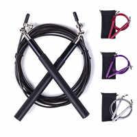 Crossfit velocidade saltar corda 3 m rolamento de metal alça ajustável pular corda para corda corda corda boxe aptidão pular treino treinamento
