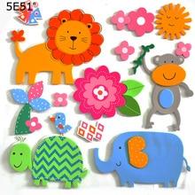 DIY cartoon flower tree animal series stereo wall sticker EVA childrens decoration