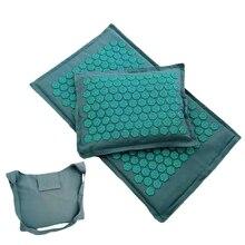 Лотос Спайка точечный массаж мат массаж и подушка набор для йоги подушка иглоукалывание избавляют спины шеи мышцы тела боль