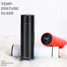 Soffe garrafa térmica a vácuo com display de temperatura inteligente 500 ml garrafas de frascos de vácuo de aço inoxidável de grau alimentício