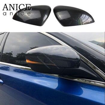 Fit ford Focus 2019 için 2 adet Karbon fiber renk ABS Dikiz Aynaları Kapak Bardak trim