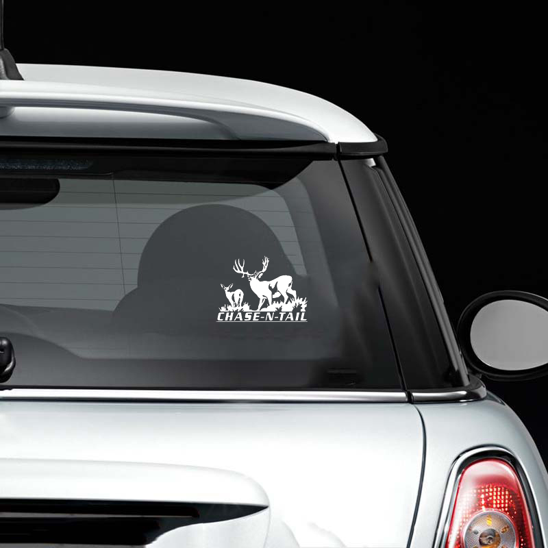 16*11.4cm Deer Hunting Chase -n- tail Car Sticke Fashion Personality Creativity Classic Attractive animal Car Accessories image