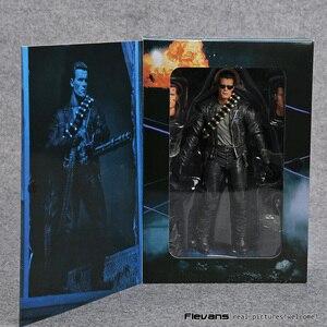 "Image 5 - NECA Terminator 2: dzień sądu T 800 Arnold Schwarzenegger pcv figurka Model kolekcjonerski Toy 7 ""18cm"