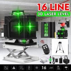 16 groene Lijnen Laser Level + Statief 3D Zelfnivellerende 360 Horizontale En Verticale Cross Outdoor Krachtige Laser Beam lijn