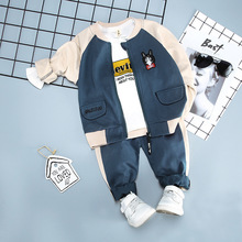 2019 Autumn Fashion Cat head Three-piece Baby Suit In Children Loose Coat And Pants