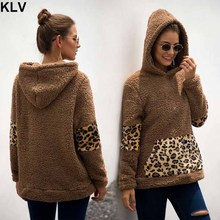 2019 Women Winter Oversized Fluffy Fleece Casual Hoodies Hooded Faux Fur Autumn Pullover Sweatshirt