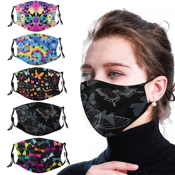 Unisex Face Mask Cute Printing Outdoor Mouth Mask Washable Reuse Face Cover Mouth Muffle Mouth Caps Breathable Facial Mask#YL5