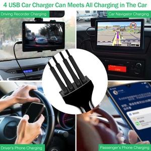 Image 5 - YKZ chargeur de voiture Charge rapide QC 3.0 chargeur de voiture 4 Ports rapide voiture téléphone chargeur téléphone voiture USB chargeur pour Samsung Xiaomi iPhone