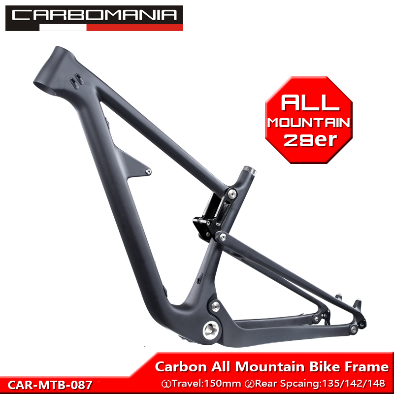 All Mountain Frame Travel 150mm Carbon Full Suspension Mountain Bike Frame 29er MTB Bicycle Frame Fit For Hub 142/135/boost 148