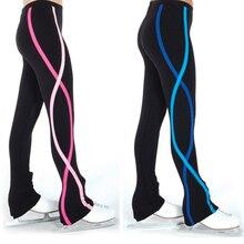 Женские Штаны Для фигурного катания на коньках, спортивные Леггинсы, спиральные флисовые штаны для танцев и йоги