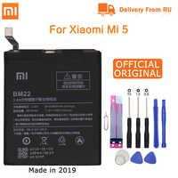 Xiao mi bateria do telefone original bm22 para xiao mi mi 5 mi m5 3000 mah alta qualidade substituição bateria pacote varejo ferramentas gratuitas