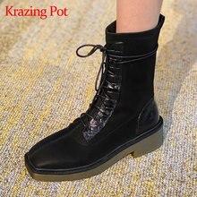 Krazing pot/Лидер продаж; Зимние Стрейчевые сапоги на высоком