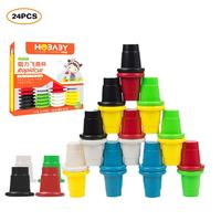 Foldind Stack Cup Tower Early Educational Toys Magnetic Children Stacked Cup Toys Innovative Cup Set Kids Intelligence Game Toys