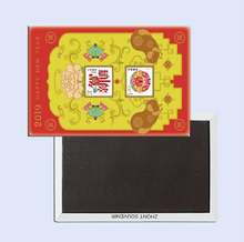 Свиньи год коллекция марок 26054 металлический магнит на холодильник