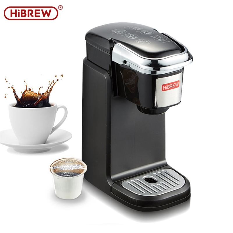 HiBREW Espresso Coffee Machine Single Serve Coffee Maker Brewer For K-Cup Pod & Ground Coffee, Compact Size Designed