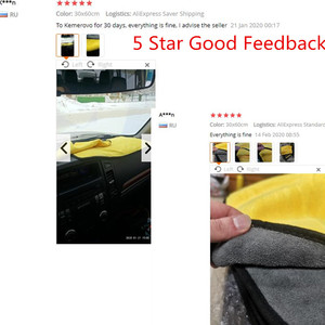 Image 5 - 20 pcs 600gsm Car Wash Microfiber Towels Super Thick Car Cleaning Cloth For Washing Drying Absorb Wax Polishing 30x30cm