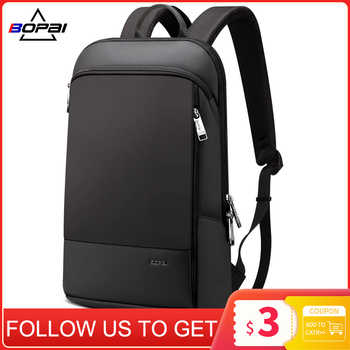 BOPAI Slim Laptop Backpack Men 15.6 inch Office Work Men Backpack Business Bag Unisex Black Ultralight Backpack Thin Back Pack - Category 🛒 All Category