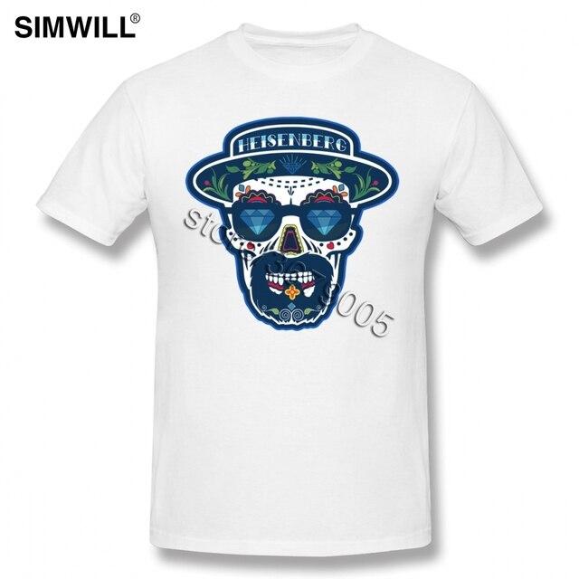 Urban Short Sleeve Heisenberg Tshirt De Los Muertos Printed Tee O Neck Cotton Designer Skull Tees Shirts Breaking Bad T-shirt