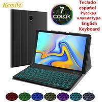 Испанская русская клавиатура с подсветкой чехол для Samsung Galaxy Tab A 10,5 2018 SM-T590 SM-T595 T590 T595 кожаный чехол Funda Capa