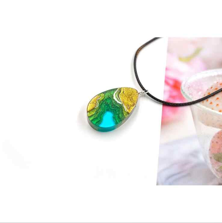 Novo molde de silicone transparente flores secas resina decorativa artesanato diy ilha montanha molde resina cola epoxy moldes para jóias