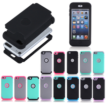 For Apple iPod Touch 7 Case Silicone and PC Hybrid Shockproof Back Cover Full Body Protection Shell Armor