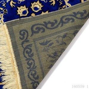 Image 2 - Il Cashmere Artificiale Musulmano Zerbino 70x110cm Arabo Islam Preghiera Zerbino High end Cerimonia Coperta Culto Tappetini dropshipping Tappeto