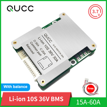 Qucc BMS 10S 36V 15A 20A 30A 40A 50A 60A 18650 Balancer Li ion Lithium Battery Protection Board for Electric Scooter Ebike Motor