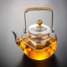 1set Thickened Heat-Resistant Glass Teapot Portable High Quality Filter Heating Coffee Set