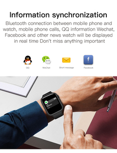 Image 3 - F20 smart watch Bluetooth Call  Fitness Tracker Watch with Heart Rate Monitor Temperature detection  PK  IWO 8 12 F10 W68 W34
