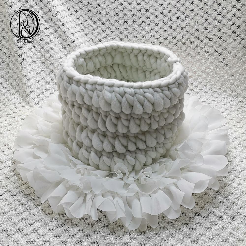 Don&Judy Diameter 50cm  Flower Style Mat Soft Chiffon Cushion + Basket +150x100cm Backdrop Set Newborn Photography Baby Props