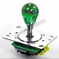 Arcade bat top joystick 12V illuminated LED 2/4/8 way rocker with oval crystal ball for DIY arcade game machine