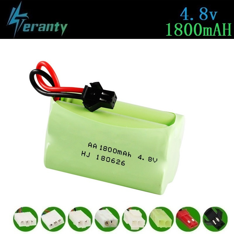 ( T Model ) 4.8v 1800mah NiMH Battery For Rc Toys Cars Tanks Robots Boats Guns 4.8v Rechargeable Battery AA Battery Pack 1Pcs