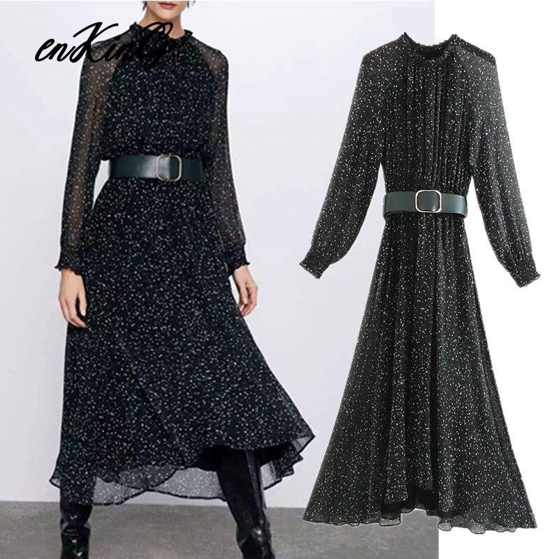 2019 angleterre style sexy élégant fleur impression ceinture fête midi za robe femmes vestidos de fiesta de noche vestidos robe maxi