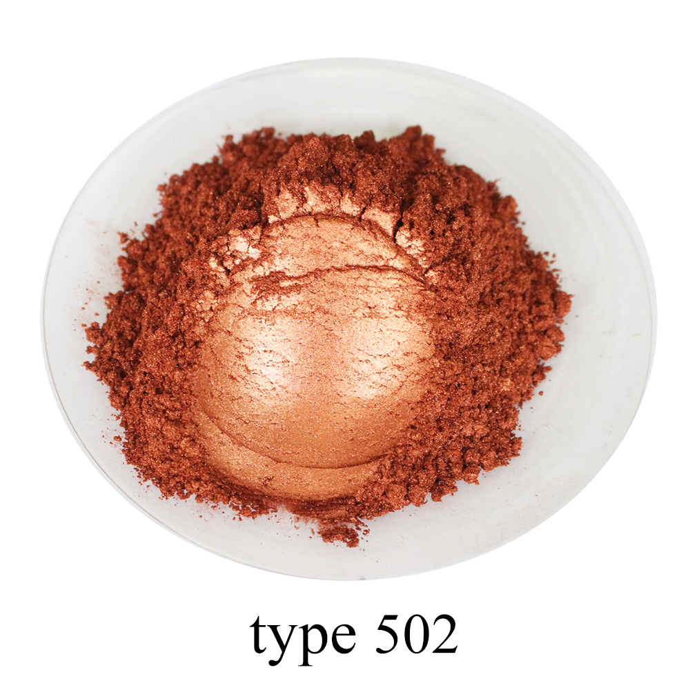 Pearl Powder Mineral Mica Powder Pigment Acrylic Paint In Dye Colorant Soap Automotive Art Craft Lipstick 50g Brown Red Pigment