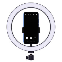 Dimmable LED Selfie Ring Light Beauty Lamp Youtube Video Live 3500-5500k Photo Studio Light Phone Holder Tripod Photography(China)