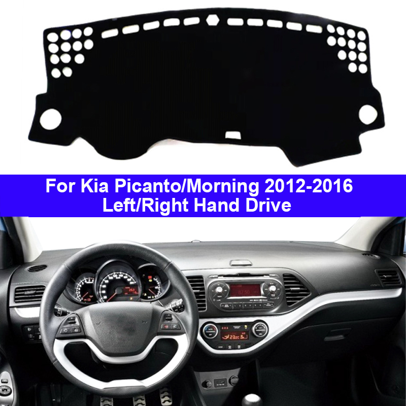 Car Dashboard Cover Dash Mat Carpet Cape For Kia Picanto Morning 2012 2013 2014 2015 2016 2 Layers LHD RHD Auto Sunshade Cushion