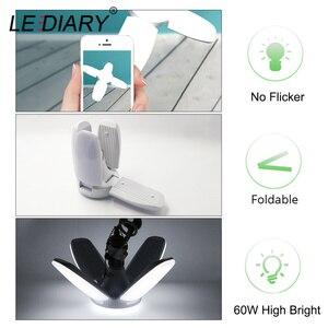 Image 4 - LEDIARY 110V 220V 60W E27 B22 LED Bulb Super Bright Foldable Fan Blade Angle Adjustable Lamp Home Energy Saving Lights CE RoHS