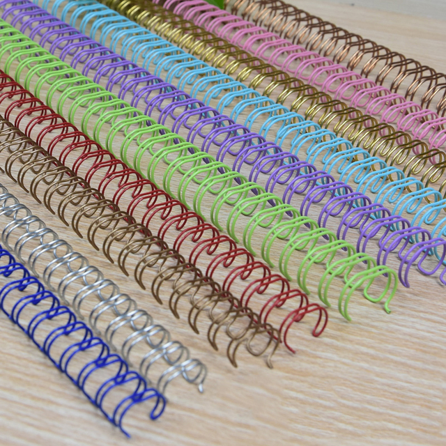 100pcs/50pcs Metallo YO Doppia Bobina Calendario Vincolante Notebook Bobina Primavera Libro Anello di Filo O Vincolante A4 leganti Doppio Filo Vincolante
