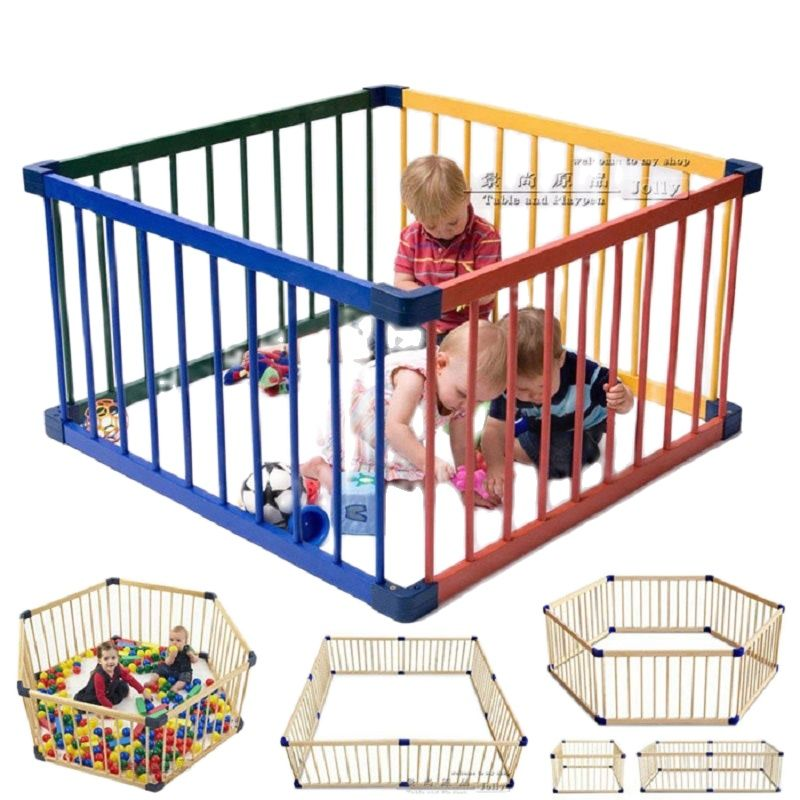 80*61cm Solid Wood Baby Toddler Game Fence Child Safety Fence Door Wooden Child Safety Gate Baby Playpens Solid Wood