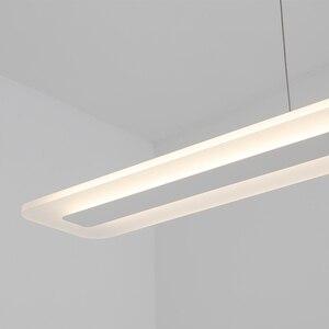Image 5 - L40 120cm Modern mutfak için asılı lamba yemek oturma odası led kolye ışıkları Metal + akrilik sarkıt lamba süspansiyon armatür