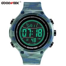 GOODWEEK Sport Watch Men Waterproof Silicone Military Digital Led Analog Army Electronics Wrist Watches Reloj Hombre