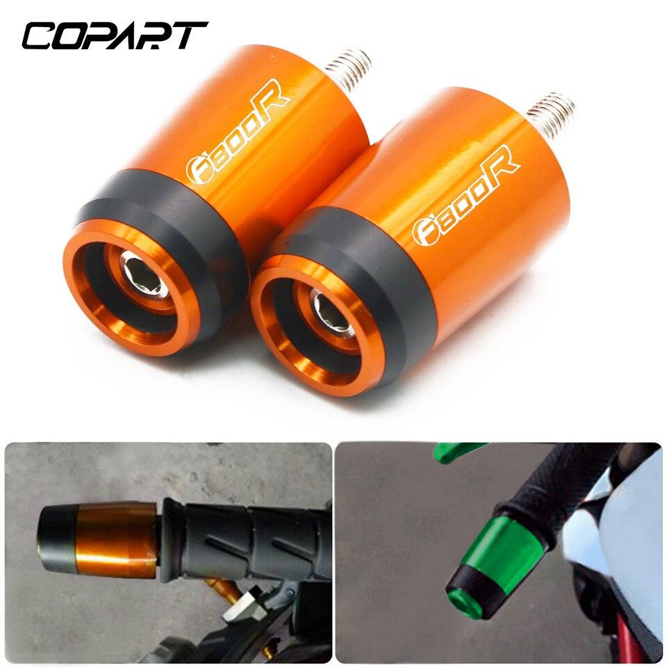 Para bmw f800r f 800r f800 r f 800 r acessórios da motocicleta universal cnc 7/8 222222mm guiador apertos lidar com barra de aperto tampa final plugues