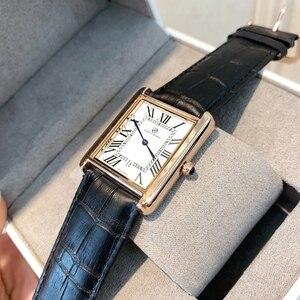 Image 4 - Offre spéciale relogio masculino luxe femmes/homme montre mode femmes reloj hombre robe montres décontracté rectangle en cuir amant montre