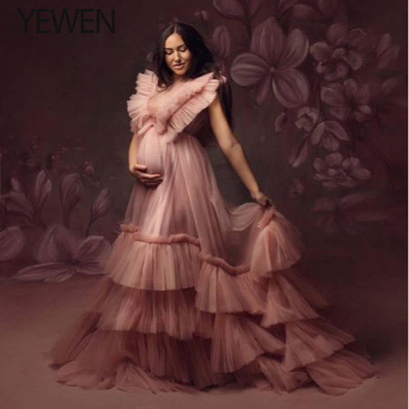 2020 Long Pin  Prom Dresses Tulle Backless Lace Up Evening Gowns Evening Party Gown Robe De Soiree Plus Size YEWEN