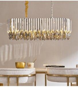 Image 4 - Kristal avize krom dekoratif avize restoran otel lambası oturma odası için
