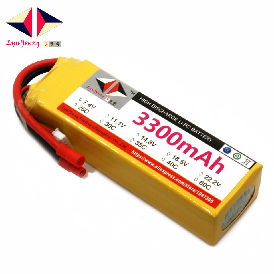 14.8V <font><b>3300mAh</b></font> 25C 30C 35C 40C 60C <font><b>4S</b></font> <font><b>Lipo</b></font> Battery For RC Boat Car Truck Drone Helicopter Quadcopter Airplane UAV image
